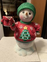 Precious Moments Lighted Musical Snowman In Ugly Sweater Plays Jingle Be... - $24.99