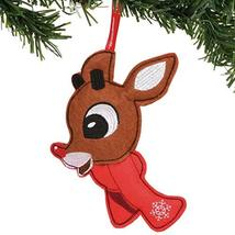 Department 56 Rudolph The Red-Nosed Reindeer Felt Hanging Ornament, 7.5 Inch, Mu - $10.49