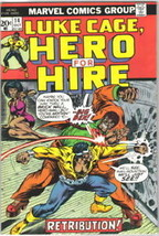 Hero For Hire Comic Book #14, Marvel 1973 FINE+ - $6.89