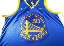 STEPHEN CURRY / AUTOGRAPHED GOLDEN STATE WARRIORS BLUE PRO STYLE JERSEY / COA image 2