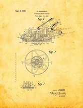 Floor Polishing Device Patent Print - Golden Look - $7.95+