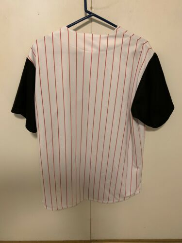 Cincinnati Reds Majestic MLB Baseball Jersey XL Team Sewn Rare White & Black