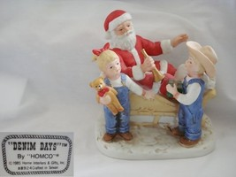 Denim Days Santas Visit Figurine by Homco - $28.04