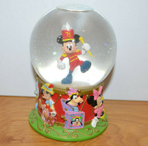 """Disney Mickey Mouse Snow Globe 75th Anniversary Marching Band 5"""" Tall - $9.55"""