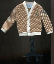 1964 Barbie Ken Fraternity Meeting #1408 Brown & White Sweater - MINT  - $12.86