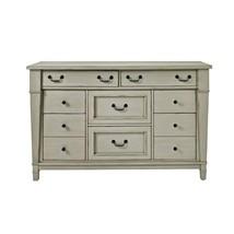 Dresser Chest 8-Drawer Recessed Panels Trimmed Rectangular Top Antique Gray - $1,356.50