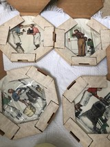 Set of 4 1979 Gorham Norman Rockwell Four Seasons Collector Plates New i... - $29.08