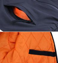 Men's Multi Pocket Water Resistant Industrial Uniform Quilted Bomber Work Jacket image 9