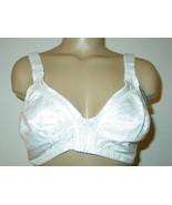 Secret Treasures Women's white front closure full coverage bra wire free... - $12.16