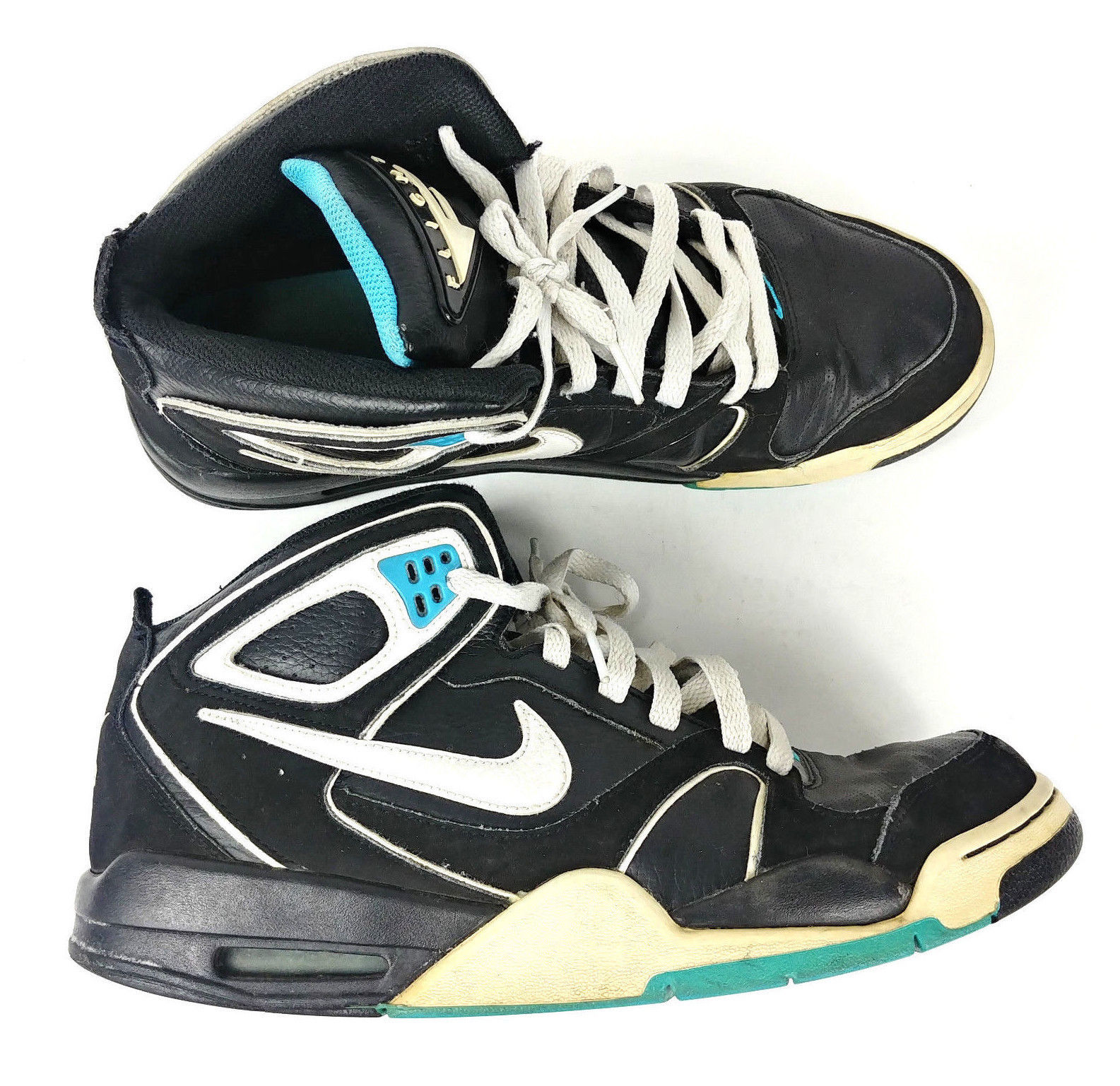 ad859437ed5fb 57. 57. Nike Air Flight Mens Falcon Shoes 397204-041 Sz 9.5 Black White  Blue Sneakers · Nike Air Flight ...