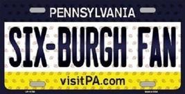 NFL Sixburgh  Steelers Fan License Plate Novelty Metal State Background... - $10.84
