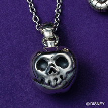 Disney Villains Evil Queen Snow White Skull  Apple Silver 925 Reversible... - $179.88