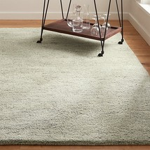 Crate and Barrel 5x8 6x9 8x10 9x12 Parker Dove Grey Handmade Wool Area Rug - $238.00+