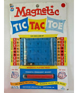 Vintage 1970 Magnetic Tic-Tac-Toe Game Smethport Specialty Co New Old Stock - £14.62 GBP