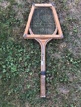 Vintage Spalding Wooden Tennis Racket Impact 330 with Wilson Frame - $13.76
