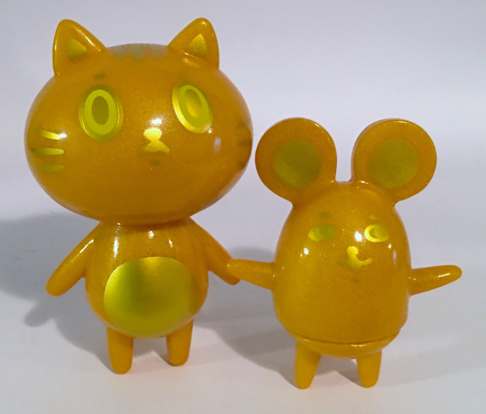 Baketan Gold Shimmer Cat and Mouse Set RARE and LIMITED Set