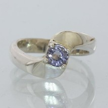 Purple Spinel Gemstone Handmade Sterling Silver Ladies Solitaire Ring size 6.25 - £43.01 GBP