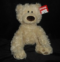 "12"" BABY GUND BEIGE PHILBIN TEDDY BEAR STUFFED ANIMAL PLUSH TOY W/ TAG 3... - $23.38"