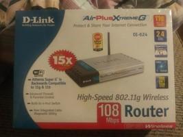 D-Link AirPlusXtremeG DI-624 802.11g Wireless 108 Mbps Router 4 Port Firewall - $31.35