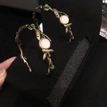 AUTHENTIC Christian Dior 2019 LE PRINTEMPS DE DIOR Enamel Hoop Earrings RARE image 10
