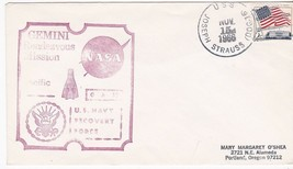 GTA-12 PROJECT GEMINI RECOVERY FORCE USS JOSEPH STRAUSS NOV 15 1966 PACIFIC - $2.98