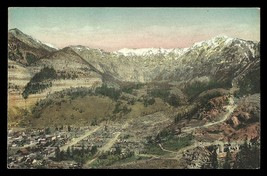 Ouray Colorado Postcard Looking East Aerial Valley Town View Albertype C... - $19.99