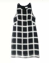 Milly of New York Black White Gridlock Sleeveless Sheath Dress Size 4 - $63.36