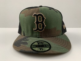 New Era 59 Fifty Boston Red Sox Camouflage Fitted Cap | Size 7-3/8 (58.7cm) - ₹1,100.13 INR