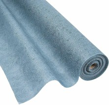 Fun Express Grey Embossed Floral Gossamer Roll  3 ft. x 50 ft.  Polyester - $33.24