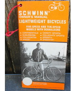 Schwinn Bicycle Owner's Manual Phamplet 1975  Lightweight Bikes 5 -10 Speed - $16.00