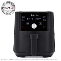 Instant Vortex 4-in-1 Air Fryer, 6 Quart, 4 One-Touch Programs, Air Fry, Roast,