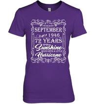 72nd Birthday Gifts September 1946 Of Being Sunshine Shirt image 3