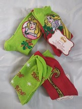 NEW Girls Anklet Socks Size 7.5-3.5 Disney Rapunzel Sleeping Beauty Chri... - $2.99