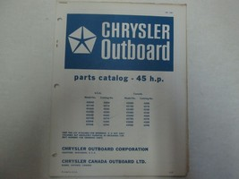 1971 Chrysler Outboard 45 HP Parts Catalog Manual Factory OEM OB 1481 *** - $9.89