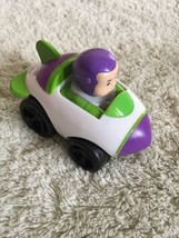 2 Boys Little People Cars Toy Story Buzz Lightyear Orange Blonde Boy - $7.38
