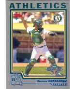 Ramon Hernandez ~ 2004 Topps Opening Day #24 ~ Athletics - $0.20