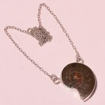 """Ammonite Gemstone Fashion New Gift Jewelry Chain Pendant S-1.40"""" UK-38 - $4.93"""