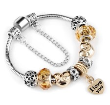 Yellow Charm Bracelet Pandora style - $24.99