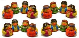 Pack Of 16 Nostalgic Hippie Rubber Ducks 50's 60's - Party Favor Duckies... - £15.82 GBP