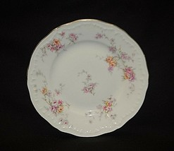 """Helene by Haviland 6-1/4"""" Bread & Butter Plate Yellow & Pink Roses New Y... - $9.89"""
