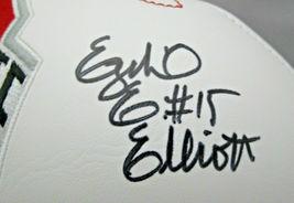 EZEKIEL ELLIOTT / AUTOGRAPHED O.S.U. BUCKEYES LOGO WHITE PANEL FOOTBALL / COA image 2