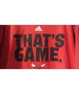 CHICAGO BULLS Adidas The Go To Tee T-Shirt Mens Size 2X Cotton Red with ... - $13.09