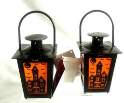 Greenbrier Light Up Mini Halloween Lantern ~ 2 Haunted House Lantern - $13.98