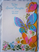 Vintage Ambassador Cards Butterfly With Special Thoughts Birthday Card 1... - $2.99