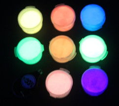 2oz DAY VISIBLE Glow in the Dark PIGMENT POWDERS now available in 9 Neon... - $13.99