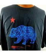 Mens Levi Strauss And Company 4 XL California Walking Bear Black T Shirt  - $20.78