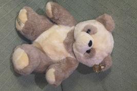 "12"" Platinum Plus Panda Teddy Bear CREAM Colored Plush Golden Ear Tag Cuddly image 3"