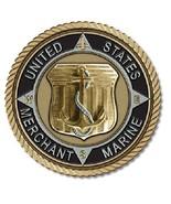 Merchant Marine Medallion for Box Cremation Urn/Flag Case - 2 Inch Diameter - $59.99