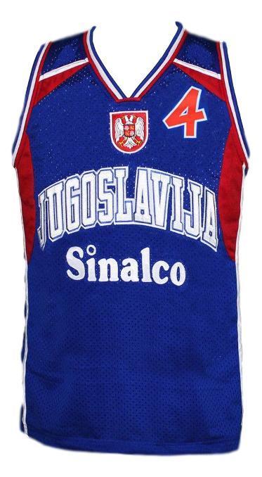 Dejan bodiroga  4 jugoslavija yugoslavia basketball jersey blue   1