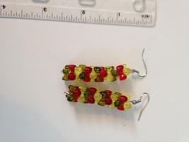 autumn dangling beaded pierced earrings  - $19.99